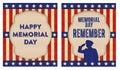 Memorial day happy remember art Stock Image