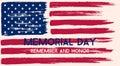 Memorial Day illustration. Royalty Free Stock Photo