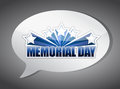 Memorial day message chat illustration design over a grey background Royalty Free Stock Images