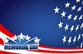 Memorial day red white and blue illustration Stock Photo