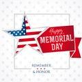 Memorial day remember & honor star light banner