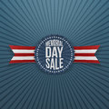 Memorial Day Sale greeting Badge and Ribbon