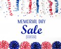 Memorial day sale message Royalty Free Stock Photo