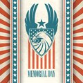 Memorial Day. Typographic card with the American