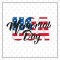 Memorial Day. USA Memorial Day card with lettering and stars background
