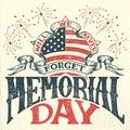 Memorial Day vintage greeting card