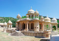 Memorial grounds to maharaja sawai mansingh ii and family jaipu museum trust the city palace gatore ki chhatriyan jaipur rajasthan Royalty Free Stock Photo
