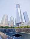 Memorial new york city aug the at world trade center ground zero seen on feb Royalty Free Stock Photography