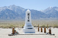 Memorial Obelisk in Manzanar Royalty Free Stock Photos