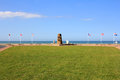 Memorial at omaha beach place of landing of allied forces during the normandy d day invasion june Stock Images