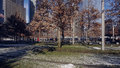 Memorial park new york the like setting between the footprint pools at the at one world trade center city Royalty Free Stock Photos