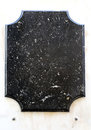 Memorial plaque empty commemorative in black marble stone Stock Images