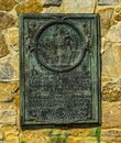 Memorial plaque at the historic Fort Ticonderoga in Upstate New York