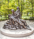 Memorial statues to vietnam war wash dc july women nurse on july in washington dc usa Royalty Free Stock Photography