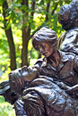 Memorial statues to vietnam war women nurse in washington dc Royalty Free Stock Image