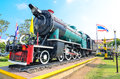 Memorial of thailand steam locomotive at nakhon ratchasima station Stock Photo