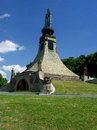 Memorial to fallen soldiers at the battle of austerlitz south moravia czech republic Royalty Free Stock Photography