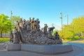 Memorial to irish famine at penn landing in philadelphia usa may pennsylvania the usa Stock Photography