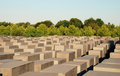 Memorial to murdered jews europe berlin Royalty Free Stock Image