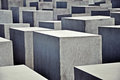 Memorial to the murdered jews of europe in berlin Royalty Free Stock Photo