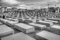 Memorial to the murdered jews of europe in black and white Royalty Free Stock Photos