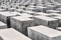 Memorial to the murdered jews of europe a view on holocaust in berlin there are concrete blocks it reminds on it is located in Stock Photo