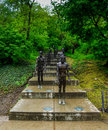The memorial to the victims of communism in spring Royalty Free Stock Images