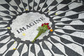 Memoriale di Strawberry Fields Fotografie Stock