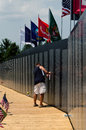 Memories at the vietnam traveling wall memorial Royalty Free Stock Images