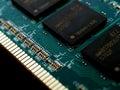 Memory chip computer closeup detail Royalty Free Stock Photos