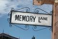 Memory lane sign Royalty Free Stock Photo
