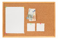 Memory note paper with Euro moneys concept Stock Photo