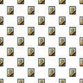Memory portrait pattern seamless