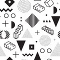 Memphis background. Seamless abstract pattern