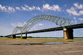 Memphis bridge blue sky white cloud symbol landmark travel america tennessee Stock Photos