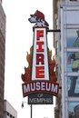 The memphis firefighter museum and tribute located in downtown tennessee Stock Photos