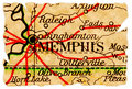 Memphis old map Royalty Free Stock Images