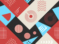 Memphis seamless pattern. Geometric elements memphis in the style of 80s. Bauhaus retro. Vector