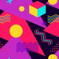 Memphis seamless pattern. Geometric elements memphis in the style of 80s and 90s. Background for wrapping paper, print
