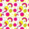 Memphis stile stereos seamless pattern. Geometric background. 80's - 90's trendy vector illustration Royalty Free Stock Photo