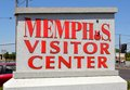 Memphis visitor center sign en memphis welcome center Imagen de archivo