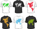 Men's t-shirt collection set Royalty Free Stock Photo