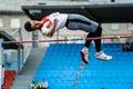 Men athlete high jump Royalty Free Stock Photo