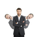 Men behind sure businessman Royalty Free Stock Photo