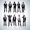 Men in black suits Stock Images