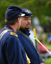 Men in civil war uniforms Royalty Free Stock Photo
