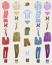 Men clothes icons Royalty Free Stock Photos