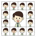 Men emotions faces Royalty Free Stock Photo