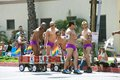 Men enjoying the Long Beach Lesbian and Gay Pride Stock Image