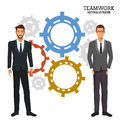 Men gear teamwork corporate business Royalty Free Stock Photo